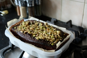 Nigella Chocolate Cake and toppings