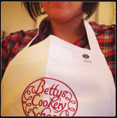 Me in my apron. Let's just say it's a good thing I do social media for a detergent brand.