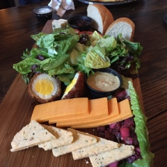 The Leaky Cauldron Ploughman's Lunch. Not exactly authentic, but delicious.