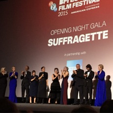 Cast and crew including Sarah Gavron, Abi Morgan, Helena Bonham Carter, Anne-Marie Duff, Brendan Gleeson, Ben Whishaw and the queenly Meryl Streep.